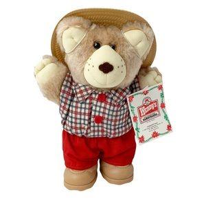 Vintage 1986 Furskins country bumpkin teddy bear